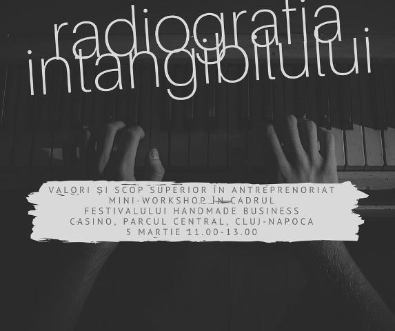Radiografia intangibilului: Valori și scop superior în antreprenoriat, workshop, Casino, Cluj, 5 martie
